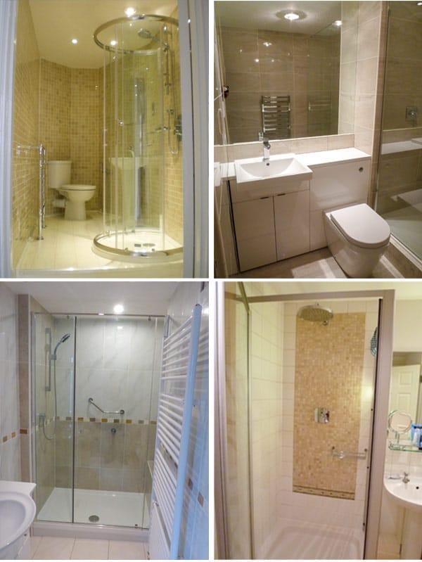 gallery of completed bathroom refurbishments